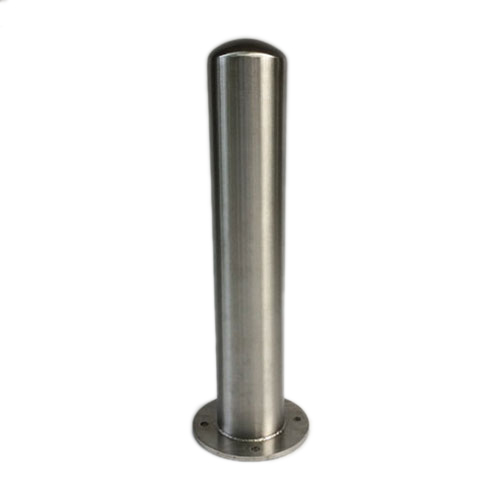 ″ baseplate mounted stainless steel bollards