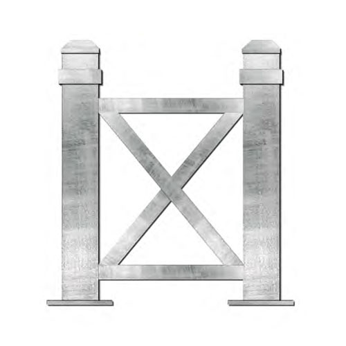 X-Framed Bollards